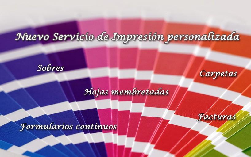 Nuevo Servicio de impresión personalizada