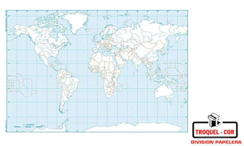 Mapa Politico Nº3 Planisferio Rivadavia