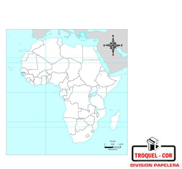 Mapa Político Nº3 Africa | Rivadavia