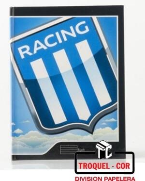 Cuaderno Escolar Tapa Flexible 24 Hojas Racing