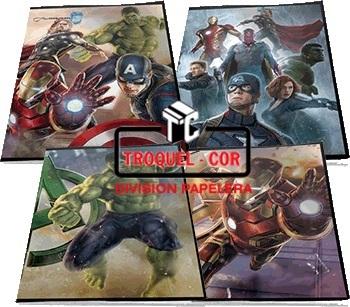 Cuaderno Escolar Tapa Flexible 48 Hojas Avengers