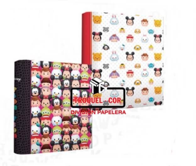 Carpeta A4 2 Anillos Cartone Tsum Tsum Ppr