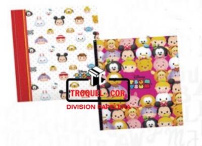 Cuaderno Escolar Tapa Dura 50 Hojas Tsum Tsum