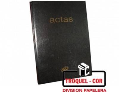 Libro De Actas 2 Manos Corona Tapa Negra