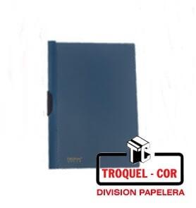 Carpeta A4 Con Clip Lateral Omega Azul