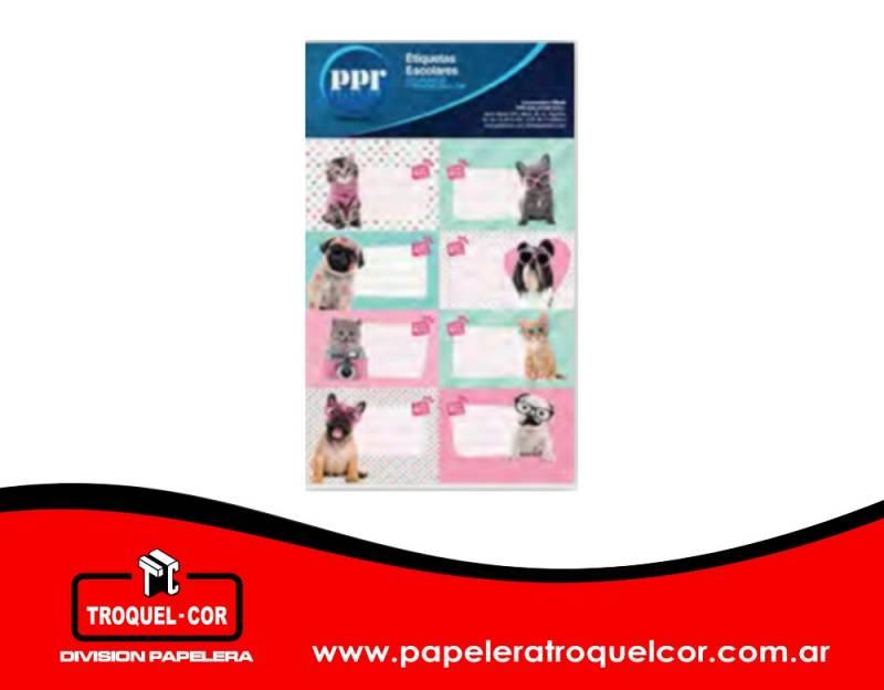 Etiquetas Escolares Studio Pet X 16 Unidades