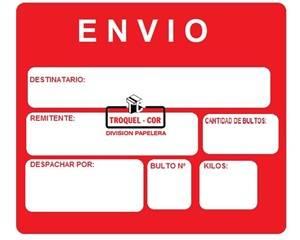 Cartel De Envio Con Adhesivo Chico X 30 Unidades