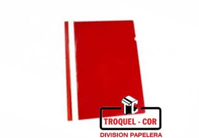 Carpeta A4 Base Opaca Tapa Transparente Omega Rojo