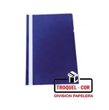 Carpeta Oficio Base Opaca Tapa Transparente Omega Azul