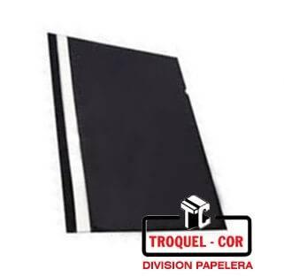 Carpeta Oficio Base Opaca Tapa Transparente Omega Negro