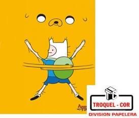 Cuaderno Escolar Tapa Flexible 24 Hojas Hora De Aventura