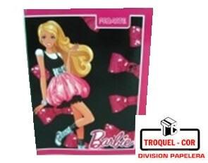 Cuaderno Escolar Tapa Flexible 48 Hojas Barbie