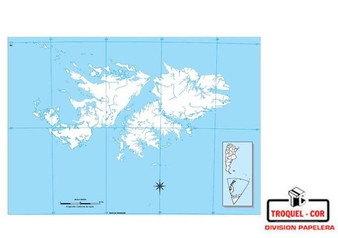 Mapa Politico Nº3 Islas Malvinas Rivadavia