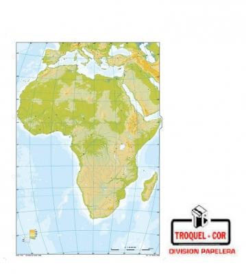 Mapa Físico Político Nº3 Africa