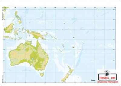 Mapa Físico Político Nº3 Oceania