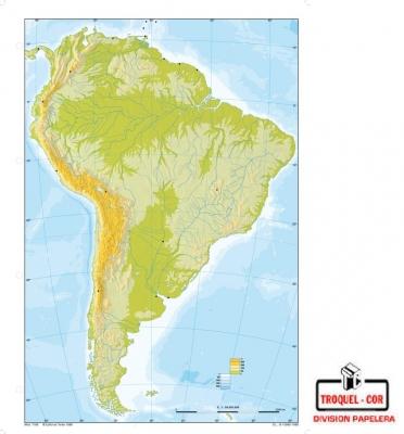 Mapa Físico Político Nº3 América Del Sur