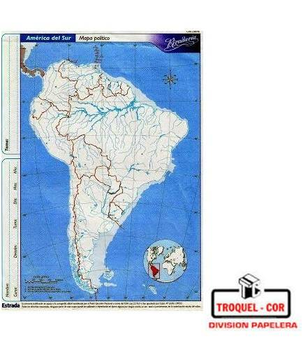 Mapa Político Nº3 América Del Sur