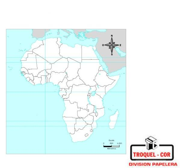 Mapa Político Nº3 Africa