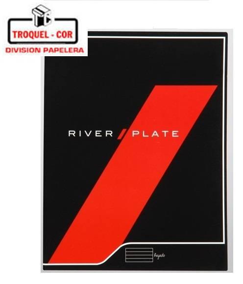 Cuaderno Escolar Tapa Flexible 24 Hojas River Plate