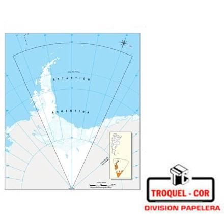 Mapa Político Nº3 Antartida Argentina