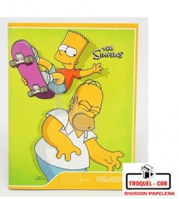 Cuaderno Escolar Tapa Flexible 24 Hojas Los Simpson