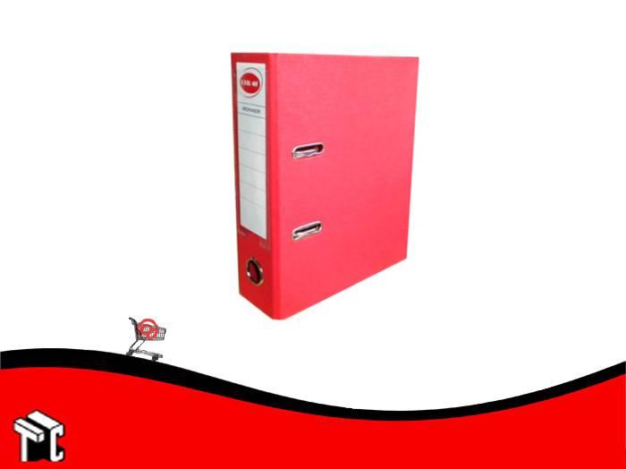 Bibliorato Oficio Forrado Plastico Util-of Rojo