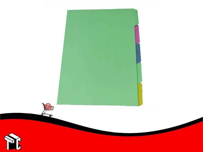 Separador Color 5 Posiciones Oficio Congreso
