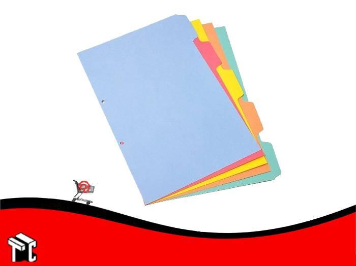 Separador Util-of 5 Colores A4