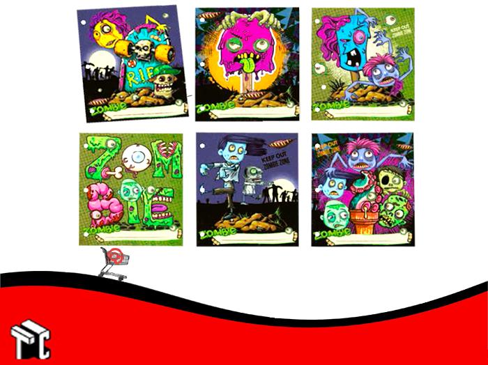 Separador Escolar Creepy Zombies X6 Ud