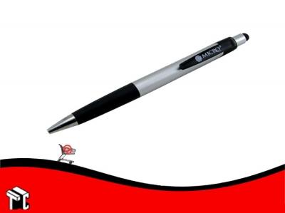 Bolígrafo Retráctil Micro Touch Negro