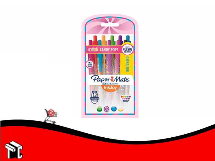 Boligrafo Retractil Paper Mate Mini Candy Pop! X 10
