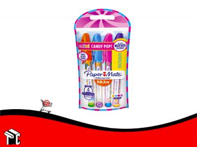 Boligrafo Paper Mate Mini Candy Pop X 4