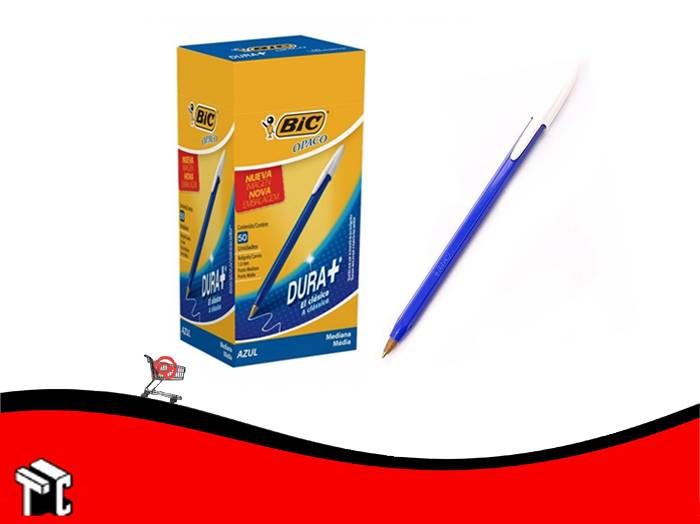 Boligrafo Bic Opaco Dura+ Azul X 50 Unidades