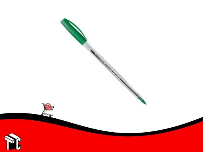 Boligrafo Faber Castell Trilux Name 032 Medium Verde