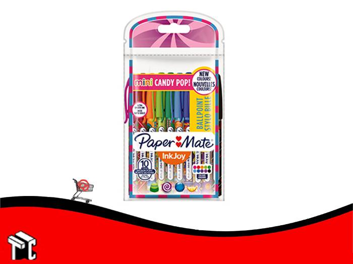 Boligrafo Paper Mate Mini Candy Pop X 10