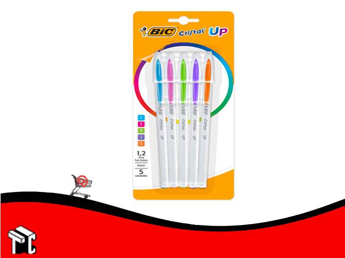 Bolígrafo Bic Cristal Up Fashion X 5 Unidades