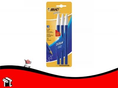 Bolígrafo Bic Opaco Azul × 3 Unidades