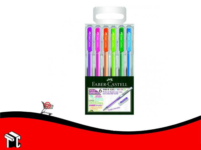 Roller Gel Faber Castell Color X 6