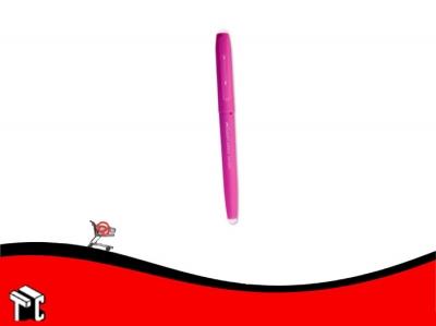 Roller Borrable Faber Castell Tinta Azul Cuerpo Rosa