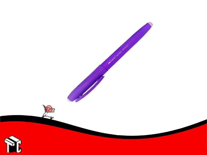 Roller Borrable Faber Castell Tinta Azul Cuerpo Violeta