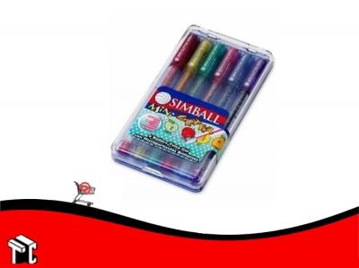 Roller Glitter Mini Simball X 6 Unidades Surtidos