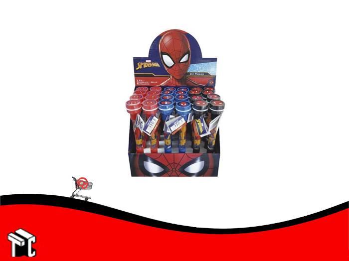 Boligrafo Con Burbujero Y Sello Spider-man