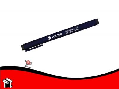 Microfibra Permanente Negro 0.4 Mm  Pizzini