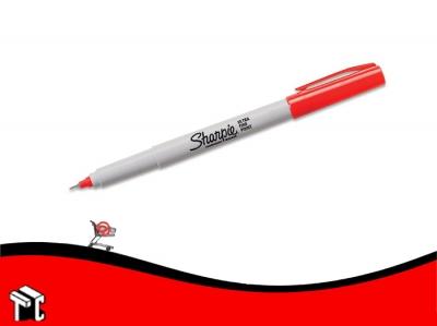 Marcador Permanente Sharpie Ultra Fino Rojo