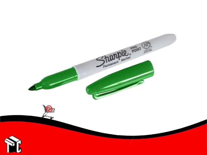 Marcador Permanente Sharpie Fino Verde