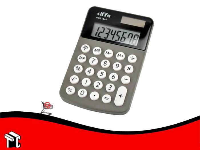 Calculadora Cifra Dt-218 8 Digitos