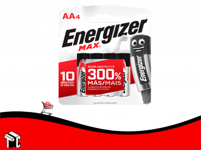 Pila Alcalina Aa Energizer X4 Ud