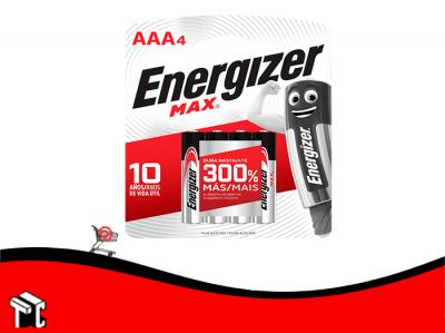 Pila Alcalina Aaa Energizer X4 Ud