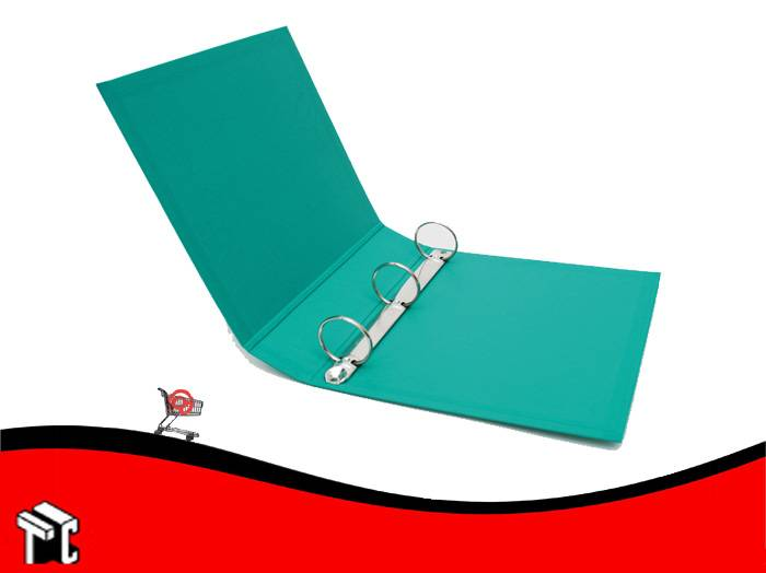 Carpeta Escolar Util-of 3x40 Forrado Verde