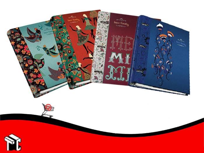 Carpeta A4 3 Anillos Arte Laura Varsky Con Repuesto 120 Hojas Rayadas